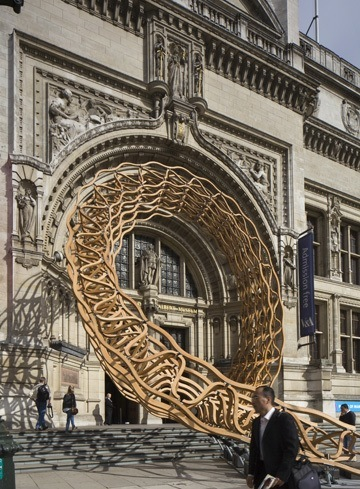 Timber Wave Installation by AL_A and Arup