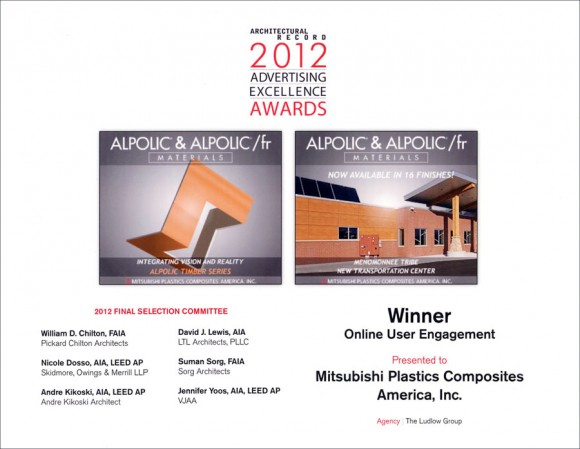 ALPOLIC Dominates 2012 Architectural Record Advertising Excellence Awards