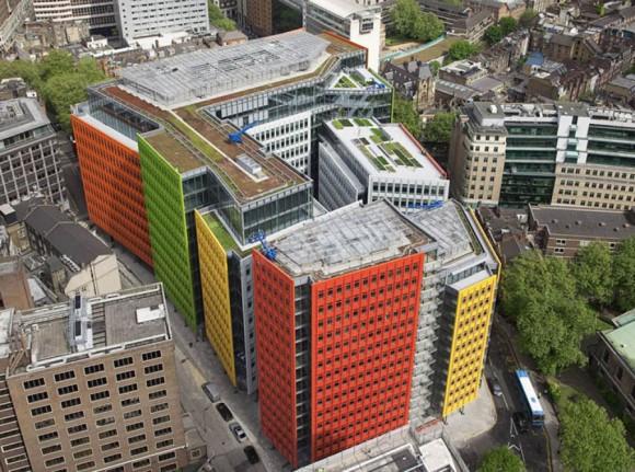 Vibrantly Tiled Exterior Design Revamps Londons Urban Landscape