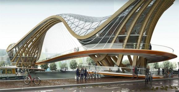 Inventive Wooden Bridge Design Transforms Amsterdams Architecture