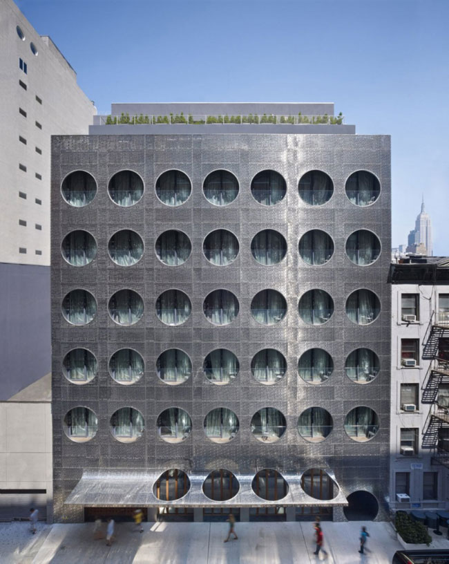 Stainless Steel Cladding Transforms New York Hotel