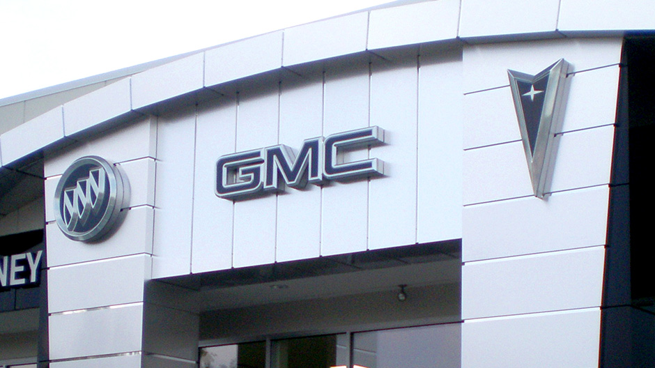 ALPOLIC Panels Used at GMC Dealerships